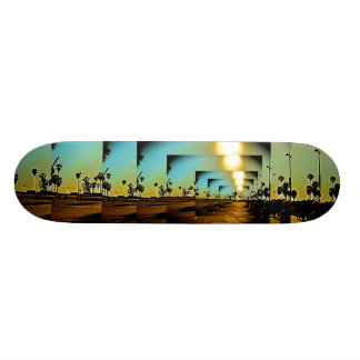 Puesta del sol de CA de la playa de Venecia Skateboards