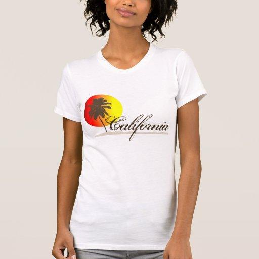 Puesta del sol de California Camisetas