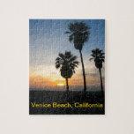 Puesta del sol de California de la playa de Rompecabeza Con Fotos