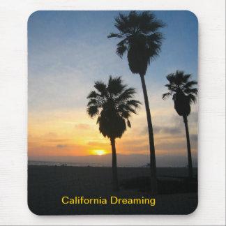 Puesta del sol de California de la playa de Alfombrillas De Ratón