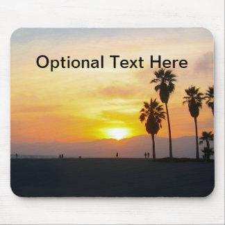 Puesta del sol de California de la playa de Tapete De Ratones