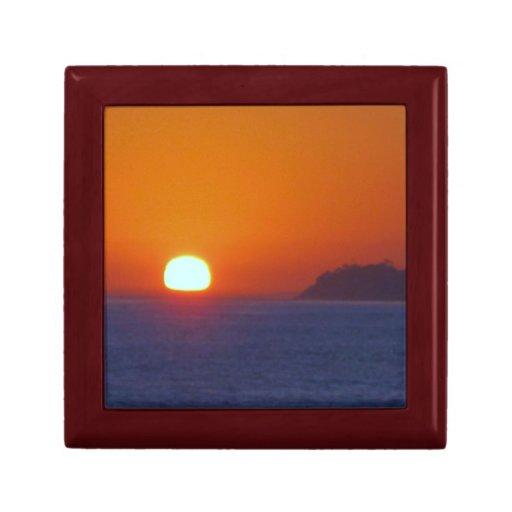 Puesta del sol de California Joyero Cuadrado Pequeño