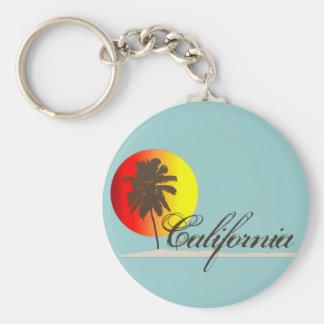Puesta del sol de California Llavero Redondo Tipo Pin
