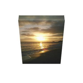 Puesta del sol de California Lona Estirada Galerías