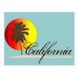 Puesta del sol de California Postal