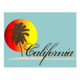 Puesta del sol de California Postales