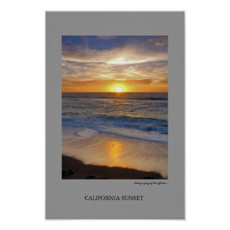 Puesta del sol de California Póster