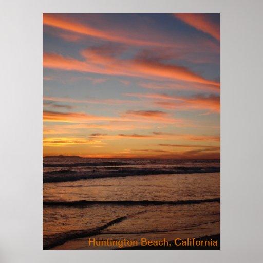 Puesta del sol de California Posters