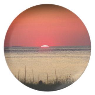 Puesta del sol de Cape Cod Plato De Comida
