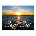 Puesta del sol de Cape Cod, postal de Provincetown