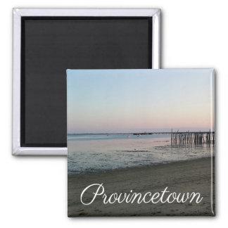 Puesta del sol de Cape Cod, Provincetown Imán Cuadrado