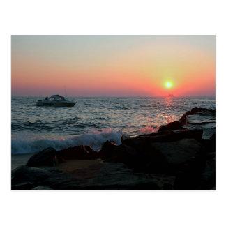 Puesta del sol de Cape May Postales