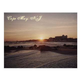 Puesta del sol de Cape May Tarjetas Postales