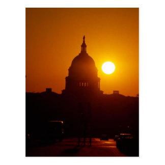 Puesta del sol de Capitol Hill Tarjeta Postal