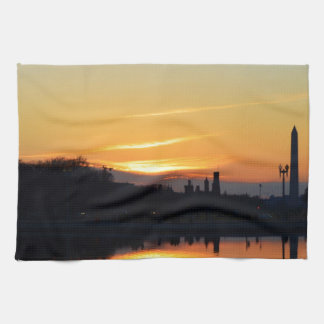 Puesta del sol de Capitol Hill. Toallas De Mano