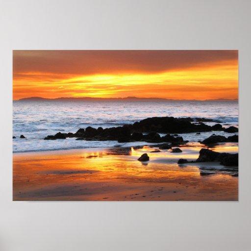 Puesta del sol de Catalina Posters