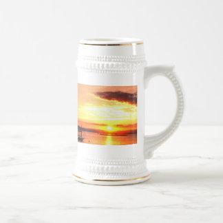 Puesta del sol de Champlain Tazas De Café