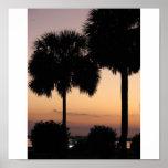 Puesta del sol de Charleston Poster
