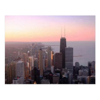 Puesta del sol de Chicago Postal