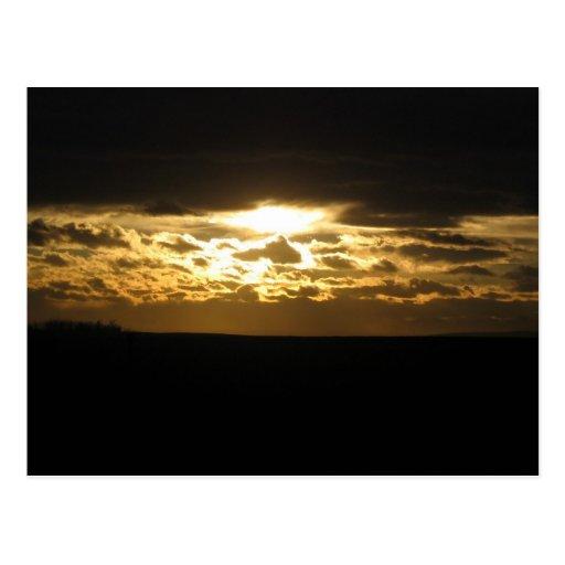 Puesta del sol de Chinook Postales