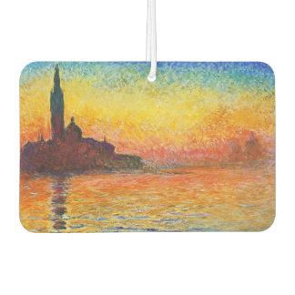 Puesta del sol de Claude Monet en arte del
