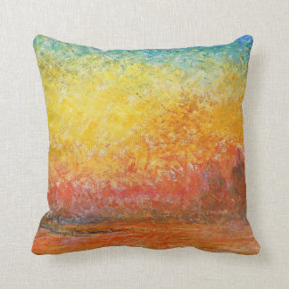 Puesta del sol de Claude Monet en arte del Cojín