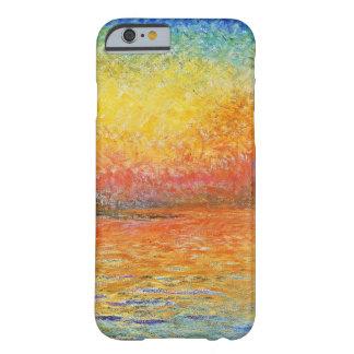 Puesta del sol de Claude Monet en arte del Funda Para iPhone 6 Barely There