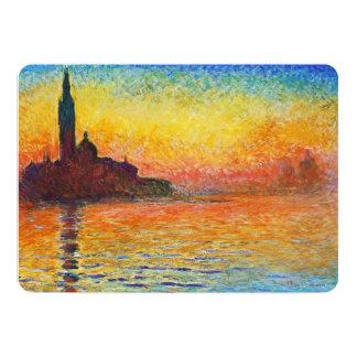 """Puesta del sol de Claude Monet en arte del Invitación 5"""" X 7"""""""