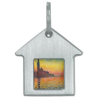 Puesta del sol de Claude Monet en arte del Placa Mascota