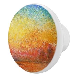 Puesta del sol de Claude Monet en arte del Pomo De Cerámica