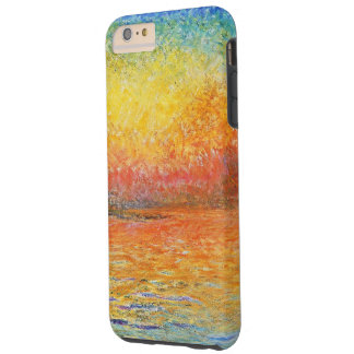 Puesta del sol de Claude Monet en Venecia Funda Para iPhone 6 Plus Tough