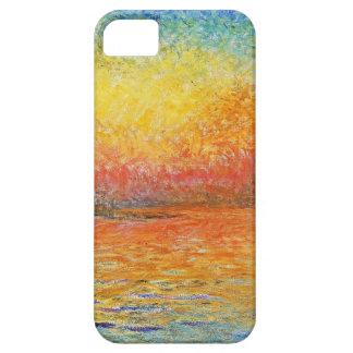 Puesta del sol de Claude Monet en Venecia iPhone 5 Carcasas