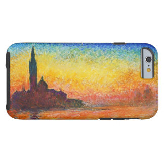 Puesta del sol de Claude Monet en Venecia Funda Para iPhone 6 Tough