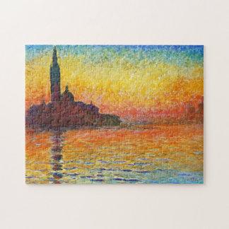Puesta del sol de Claude Monet en Venecia Rompecabezas Con Fotos