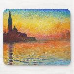 Puesta del sol de Claude Monet en Venecia Alfombrilla De Raton
