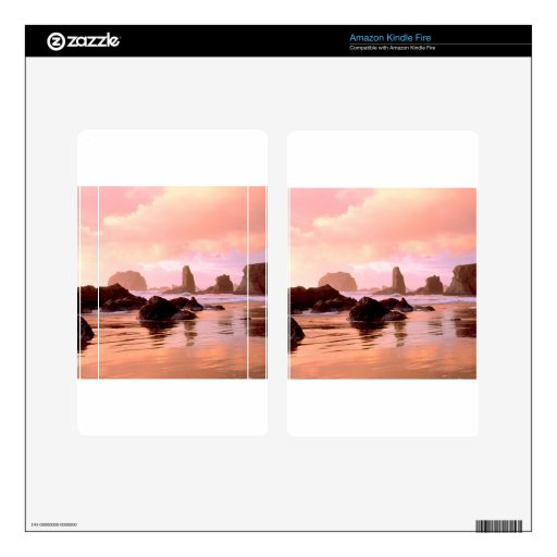 Puesta del sol de Coastal del cielo Pegatina Skin Para Kindle Fire