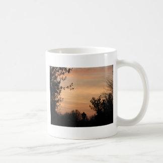 Puesta del sol de cobre 1 tazas de café