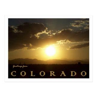 Puesta del sol de Colorado Tarjetas Postales