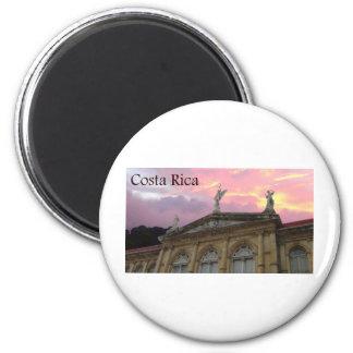 puesta del sol de Costa Rica del nacional del teat Imán Para Frigorifico