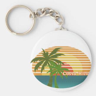 Puesta del sol de Costa Rica Llavero Personalizado