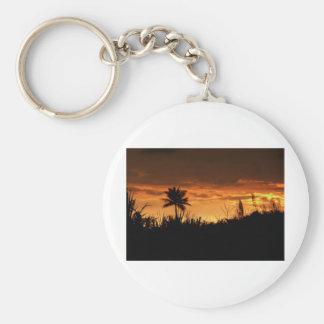 Puesta del sol de Costa Rica Llaveros Personalizados