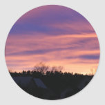 Puesta del sol de Dakota del Sur Etiqueta Redonda