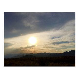 Puesta del sol de Death Valley Postales