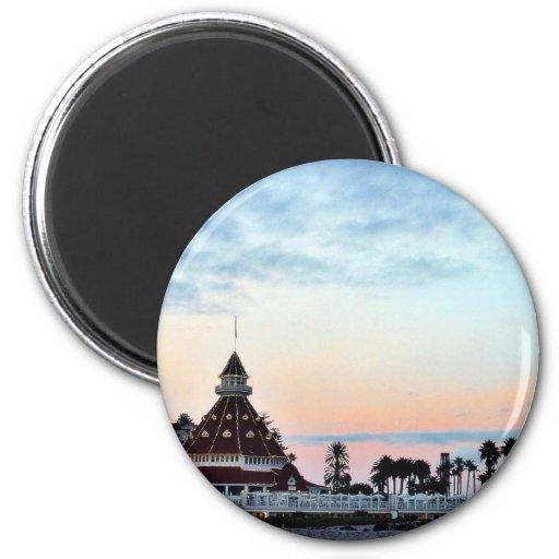 Puesta del sol de Del Coronado Imán Redondo 5 Cm
