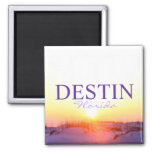 Puesta del sol de Destin la Florida sobre las duna Iman