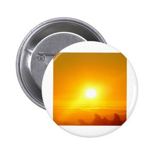 Puesta del sol de diciembre pin redondo 5 cm