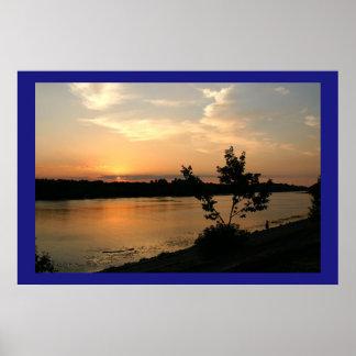 Puesta del sol de Dniepr Impresiones
