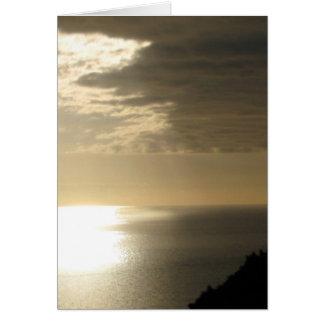Puesta del sol de Eastborne Tarjeta