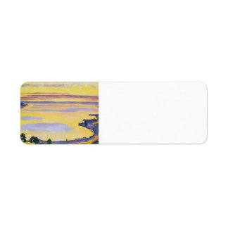 Puesta del sol de Fernando Hodler- en el lago Lemá Etiquetas De Remite