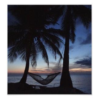 Puesta del sol de Fiji Impresion Fotografica